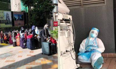 6 Jam bekerja tanpa Henti di awal Ramadhan, Petugas Tersandar Mengigil Kepenatan