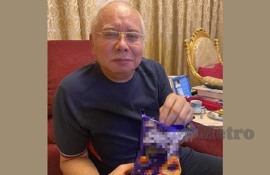 Najib Razak duduk di rumah sepanjang PKP dan PKPB. FOTO IG NAJIB RAZAK