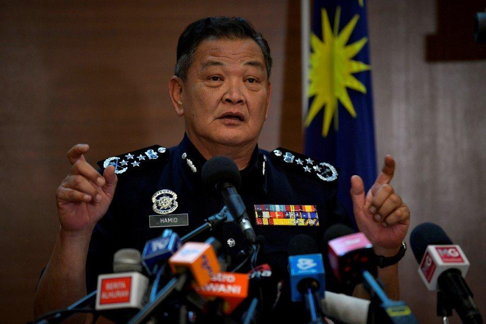 Ketua Polis Negara, Tan Sri Abdul Hamid Bador. - Foto BERNAMA